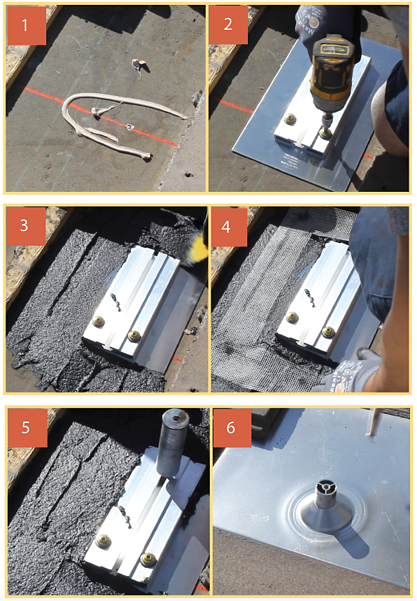 3-course roofing method