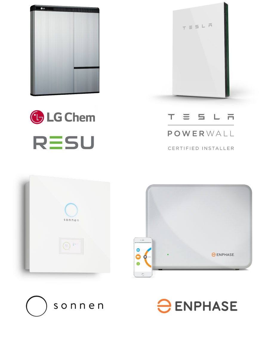 Tesla+LGChem+Enphase+Sonnen-Batteries-Systems