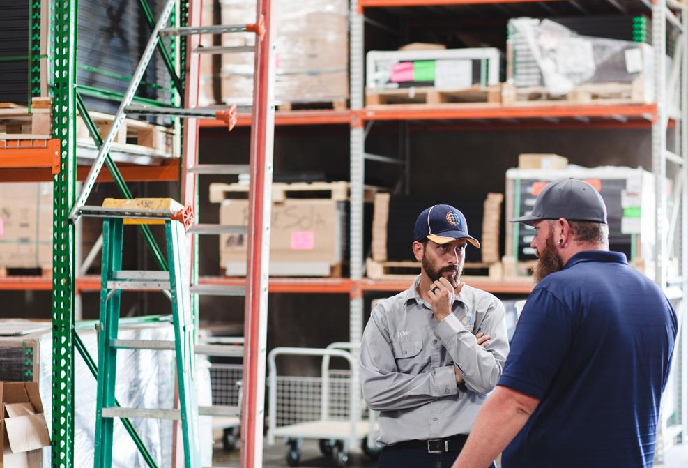 Talking in warehouse1